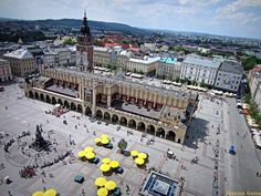 Krakow, Poland  Main Market Square - the largest Medieval Square in Europe.  @Globtroter Krakow https://www.facebook.com/144196109068278/photos/pb.144196109068278.-2207520000.1419025257./204454546375767/?type=3&theater