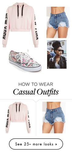 """Casual"" by nanteneba on Polyvore featuring Vans"