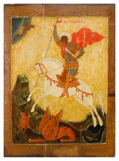A Monumental Icon of the Miracle of Saint George over the Dragon