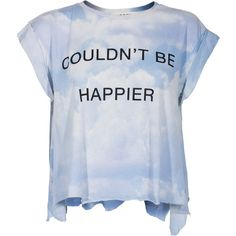 WILDFOX Couldn´t Be Happier Multi Cropped t-shirt with print ($77) ❤ liked on Polyvore featuring tops, t-shirts, shirts, summer t shirts, tie dye shirts, blue shirt, t shirts and tiedye t shirts