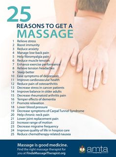 25 Reasons to Get a Massage — American Massage Therapy Association