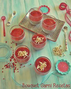 Postre de chía y frutillas/fresas// Strawberry Chia Pudding by Bouquet Garni Recetas
