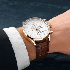 Men's Chrono S - Rose Gold + White – Vincero Collective