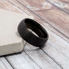 A subtle brushed finish adds style to the amazing tungsten ring.