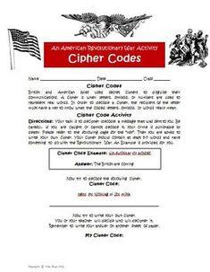 Revolutionary War Spy Codes Bundled Activity Resources