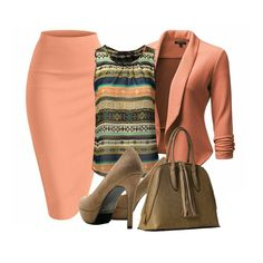 Get beautiful printed blouses, blazers, pencil skirts and much more at amazing prices! subject to copyright. Classy Outfits, Chic Outfits, Jw Mode, Professional Outfits, Complete Outfits, Business Outfits, Work Attire, Work Fashion, Autumn Fashion
