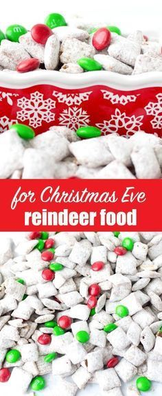 this reindeer chow recipe turns the classic muddy buddies puppy chow into a christmas treat that the kids will love - Christmas Puppy Chow