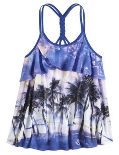 Printed Trapeze 2fer Tank | Girls Tops Clothes | Shop Justice