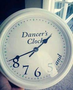 The dancers clock...