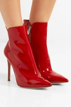 e72aa13cc8d GIANVITO ROSSI Levy lovely red patent-leather ankle boots