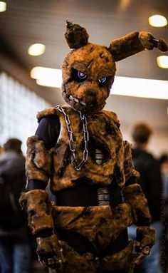 Me as the animatronic Spingtrap from the horror game Five Nights at Freddy's 3 at German Comic Con. The costume was made by me. Photo taken by Matthias Schnitker and edited by me Mischa's Cosplay