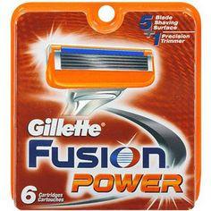 Gillette Fusion, Cartridges, Power, 6ct