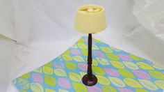 Renwal Pole Lamp Reading lamp Doll House Toy Plastic Light Livingroom