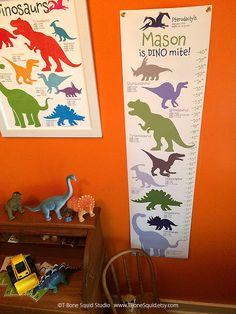 Dinosaur Growth Chart for Kids