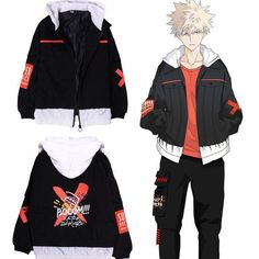 My Hero Academia Katsuki Bakugou Booom! Edgy Outfits, Cosplay Outfits, Anime Outfits, Cosplay Costumes, Cool Outfits, Casual Cosplay, My Hero Academia Merchandise, Anime Merchandise, Hero Academia Characters
