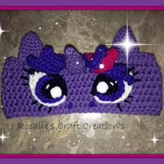 Crochet Headband Crochet My Little Pony Headband - Crochet Girls, Cute Crochet, Crochet For Kids, Crochet Baby, Knit Crochet, Crochet Craft Fair, Crochet Crafts, Yarn Crafts, Crochet Projects