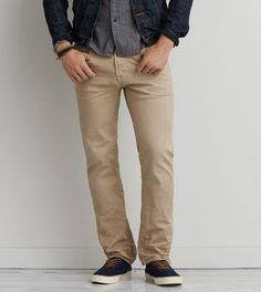 Preppy Khaki Slim Straight Core Flex Jean