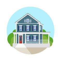 Home, sweet home. Vector illustration.