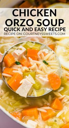 Warm up with our hearty Lemon Chicken Orzo Soup! Ladle up a bowl full of comfort in just 30 minutes using chicken broth Hearty Chicken Soup, Chicken Broth Soup, Lemon Chicken Orzo Soup, Chicken Soup Recipes, Whole30 Recipes Lunch, Lemon Soup, Avocado Salad Recipes, Mediterranean Recipes, Healthy Ramen