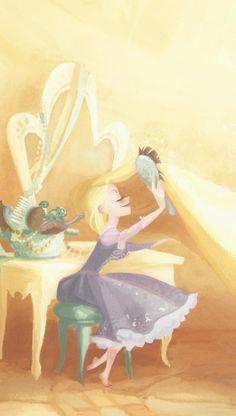 Tangle Teezer AKA The Official Brush of Disney Princesses Disney Pixar, Walt Disney, Disney Rapunzel, Disney And Dreamworks, Disney Animation, Disney Magic, Disney Art, Disney Princesses, Tangled Concept Art