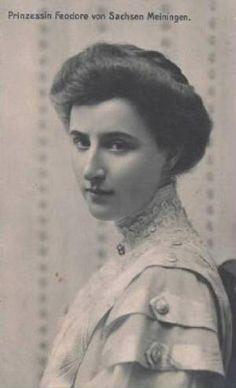 Princesse Féodora de Saxe-Meiningen (1890-1972) wife of  Wilhelm Ernest de Saxe-Weimar-Eisenach