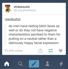 'bitch' is a gendered term, so even if men had Resting Jerk Face, it wouldn't have the same negative connotation