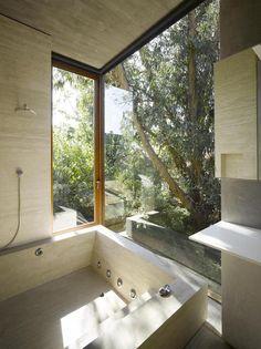 Concrete dwelling with modern-elegant design
