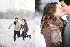 winter engagement pictures. If only it snowed this much in a TN Winter
