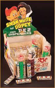 Disney Pez Snow White and Dopey Dispenser Display Box advertisement