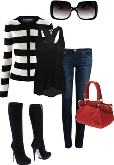 """Stripes"" by amanda-bauer on Polyvore"