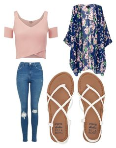 """""""Untitled #186"""" by journeycarothers on Polyvore featuring Lipsy, Topshop and Billabong"""