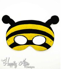 Stitch out an entire insect costume set with this unique ITH Insects mask digital machine embroidery pack of designs! This pack includes different machine embroidery designs - each fitting both a & hoop! Insects design sizes: Bee design sizes: - x - x Embroidery Scissors, Embroidery Transfers, Vintage Embroidery, Machine Embroidery Designs, Embroidery Jewelry, Embroidery Patterns, Bee Activities, Printable Masks, Mask Template