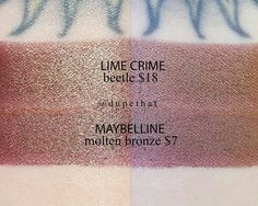 """3,527 Likes, 17 Comments - DUPETHAT (@dupethat) on Instagram: """"Another @limecrimemakeup dupe from @maybelline's metallic lipstick line. This color is so bomb.…"""""""