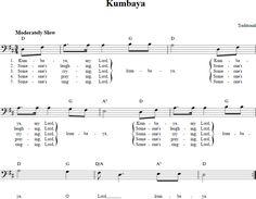 Kumbaya Bass Clef Sheet Music