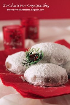 Christmas Sweets, Xmas, Christmas Ideas, Chocolate Snowballs, Greek Desserts, Snowball Cookies, Table Decorations, How To Make, Recipes