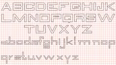 letters on graph paper