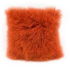 Aurelle Home Soft Mongolian Faux Lamb Pillow (