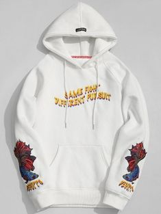 SHARE & Get it FREE | Kangaroo Pocket Embroidered Oversized Hoodie - White LFor Fashion Lovers only:80,000+ Items • New Arrivals Daily Join Zaful: Get YOUR $50 NOW!