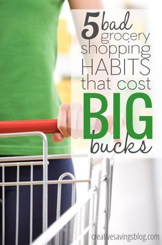 Stop wasting your hard-earned dollars with bad grocery shopping habits that literally take minutes to change. With consistent practice, you`ll not only learn to shop smarter, you`ll also shave hundreds off your bill!