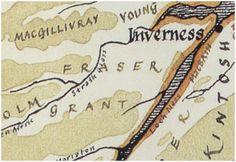 Fraser of Lovat Clan Map