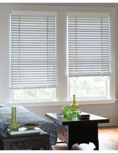White Wood Blinds Window Frame Moulding