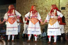 """Lado (meaning """"good"""", """"lovable and """"dear""""), the Folk Dance Ensemble of Croatia, in traditional Croatian costume"""