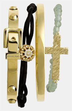 Cara Cross & Bead Stretch Bracelet