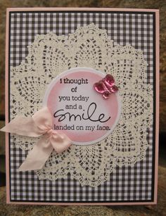 like the chalked circle on top of the doily. simple but pretty