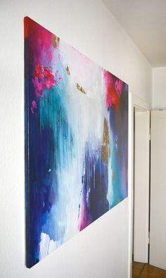 Original XXL extra large abstract painting modern by ARTbyKirsten