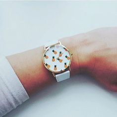 Frutas tropicales piña, estilo Vintage cuero reloj, relojes de mujer, reloj de novio,