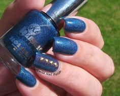 The Clockwise Nail Polish: Sky Kisses Ocean & A England Tristam