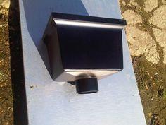 edwardian style plain box hopper - alumium guttering