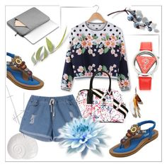 """""""Denim Shorts"""" by ilona-828 ❤ liked on Polyvore featuring Marc Jacobs and BangGood"""