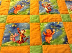 Winnie the Pooh and Friends by emeraldfirequilts on Etsy, $95.00